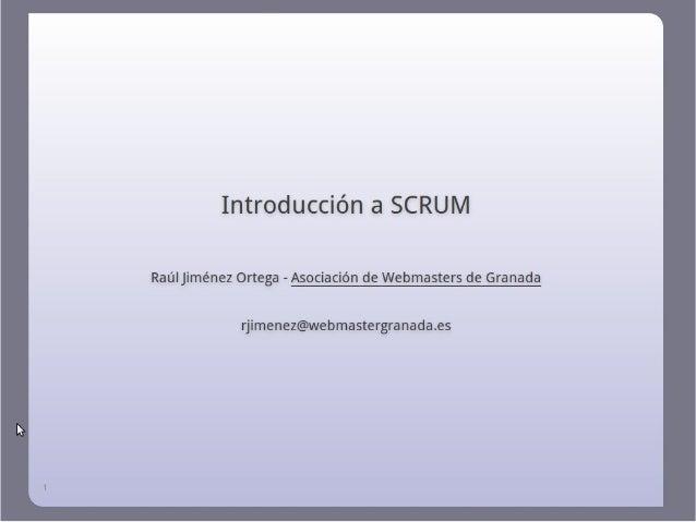 Introducción a Scrum - OSL y AWGR