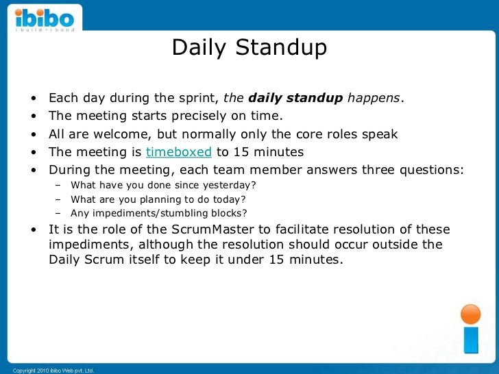Beginning scrum for startups for Stand up meeting minutes template