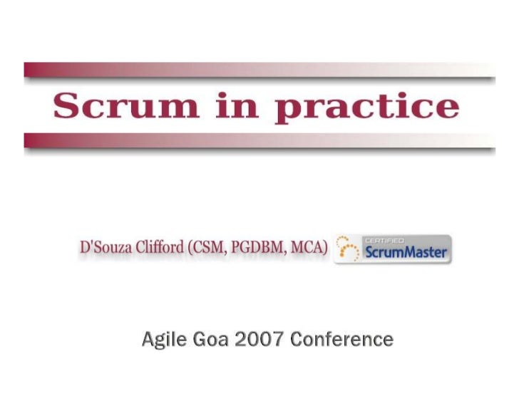Objectives         Selection of scrum for agile development        Adoption of scrum        Assessment of scrum implementa...