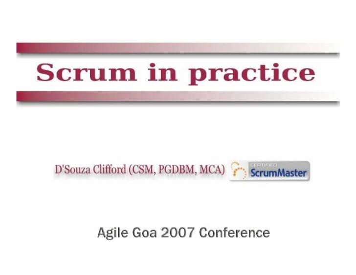 Scrum in Practice