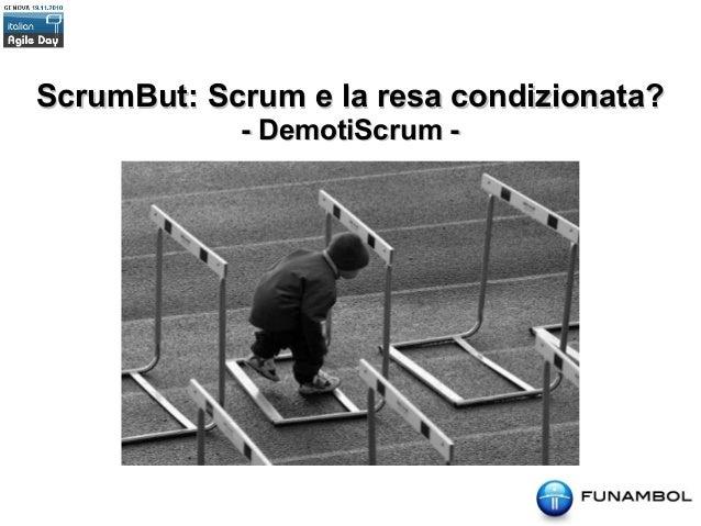 Scrumbuts - Italian Agile Day 2010