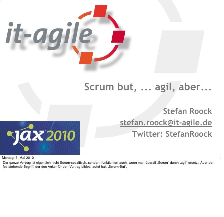 Scrum but, ... agil, aber...                                                                                          Stef...