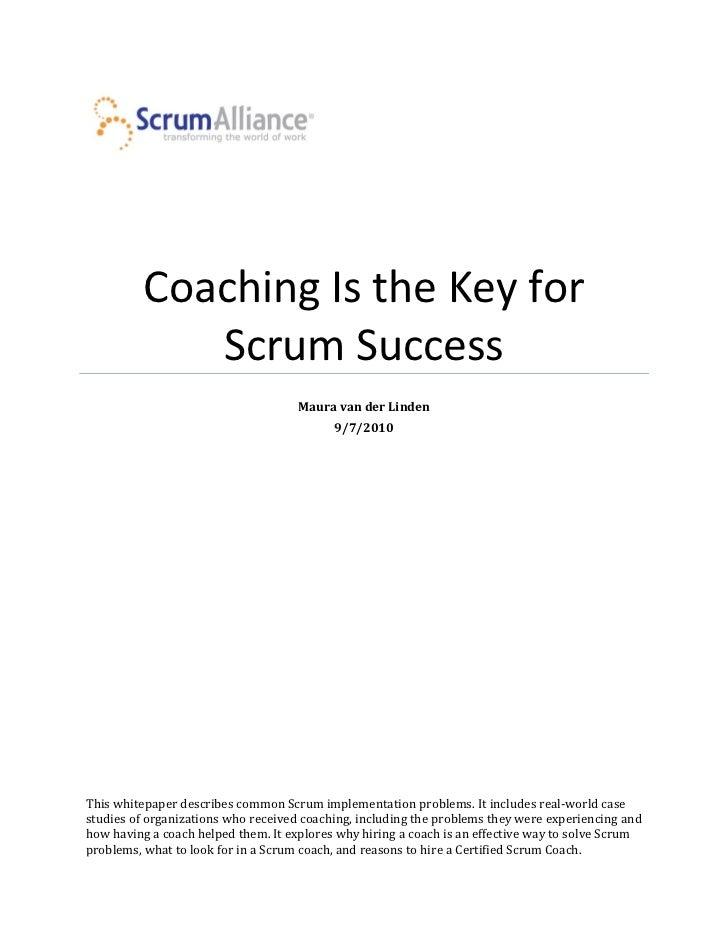Scrum coaching whitepaper