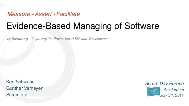 Scrum Day Europe 2014 - Evidence-Based Managing of Software