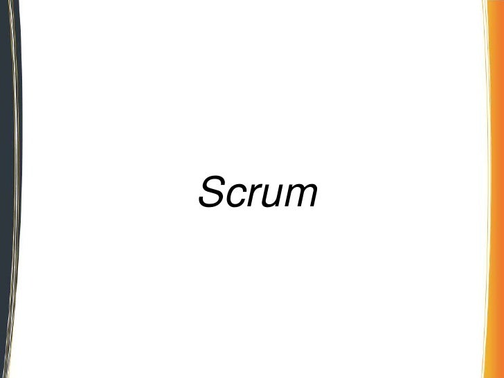 Scrum desk principles