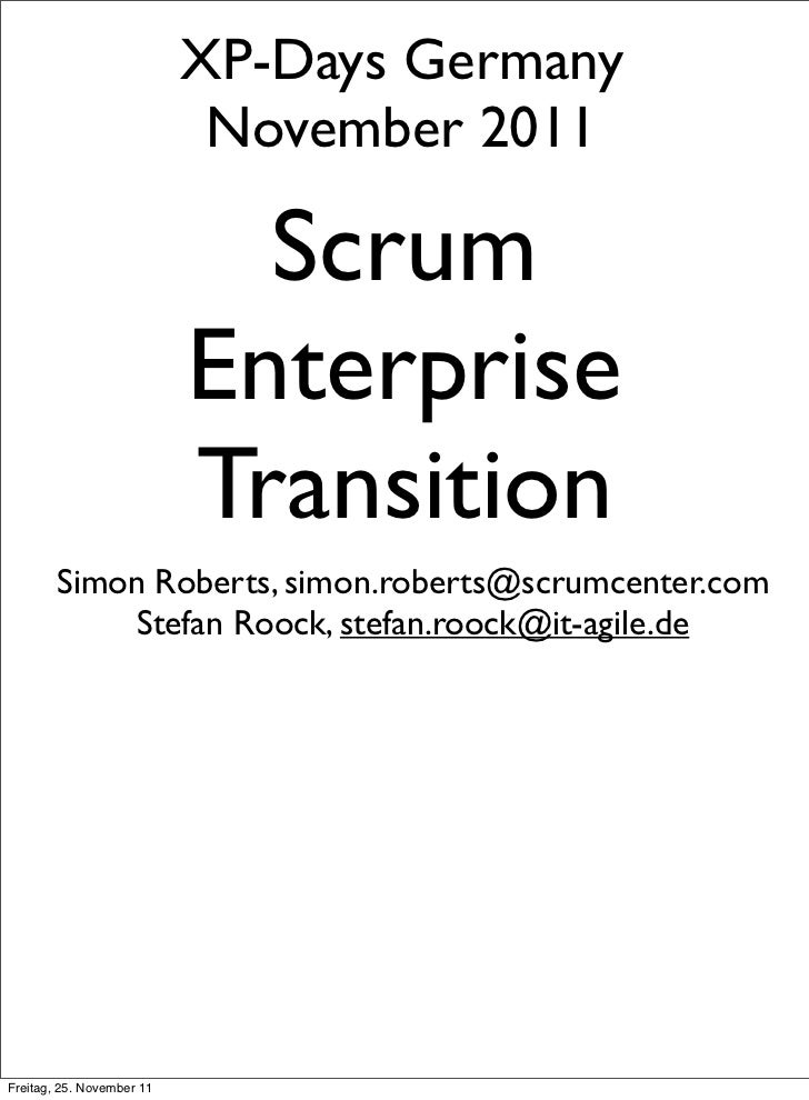Scrum Enterprise Trransition