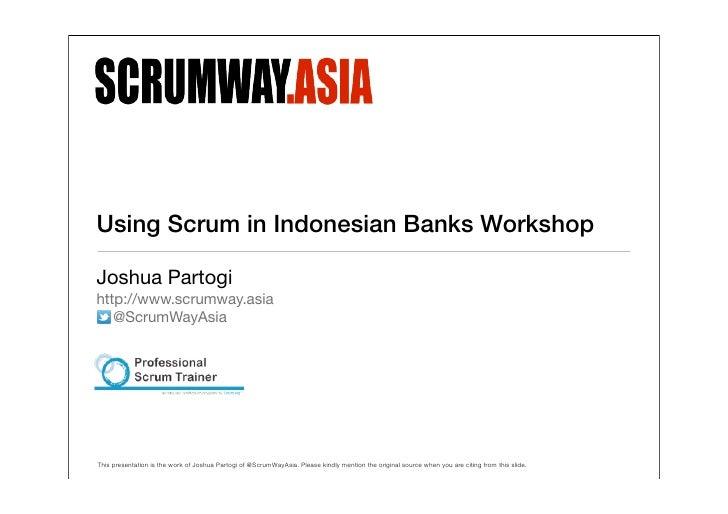 Scrum Indonesian Banks