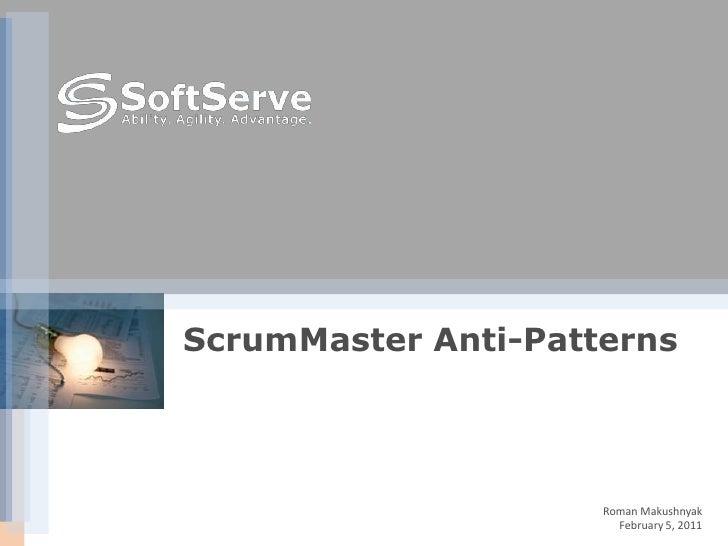 Scrum Master Anti-Patterns