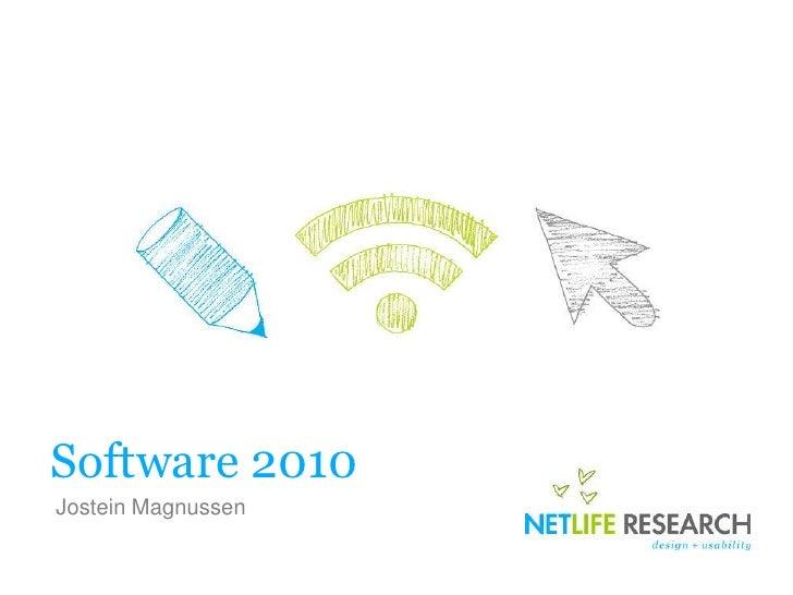Software 2010 <br />Jostein Magnussen<br />