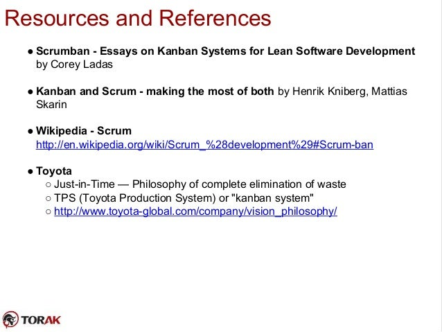 scrumban essays on kanban systems for lean software development Mary and tom poppendieck came out with lean software development: top 5 kanban project management scrumban: essays on kanban systems for lean software.