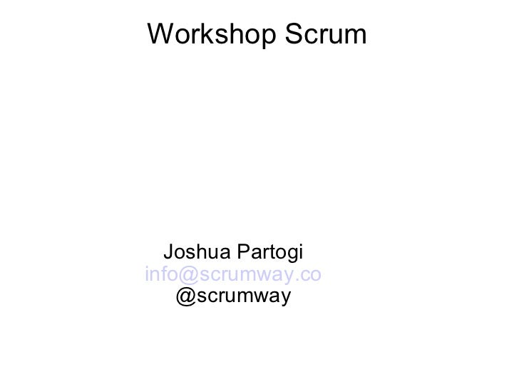Free Scrum Workshop Jan 2011
