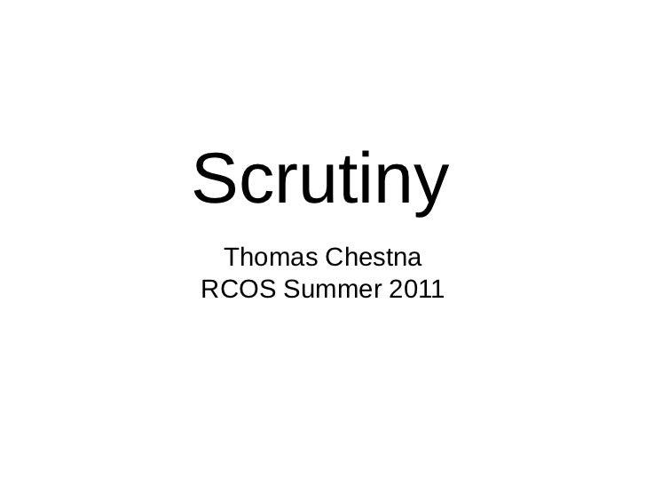 Scrutiny 07-01-2011