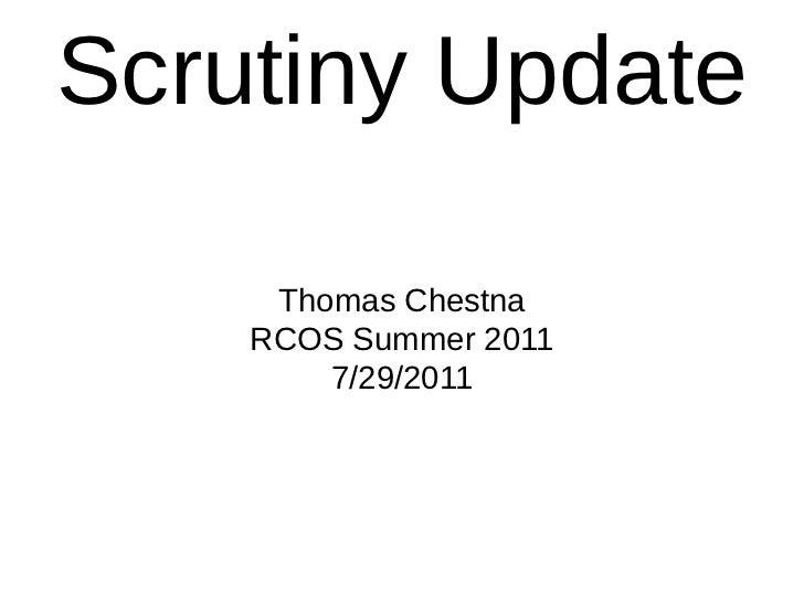 Scrutiny 2