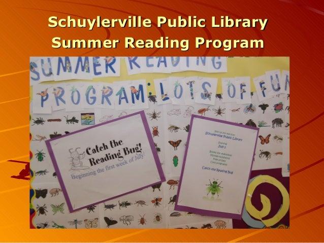 Schuylerville Public LibrarySchuylerville Public Library Summer Reading ProgramSummer Reading Program