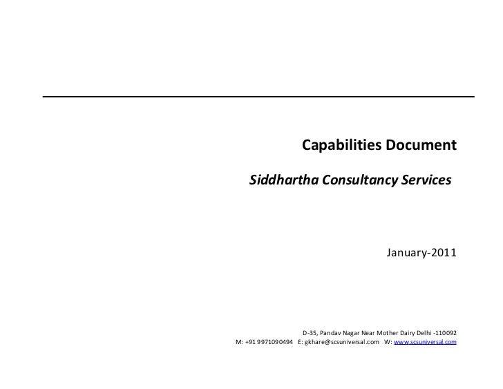 SCS capabilities