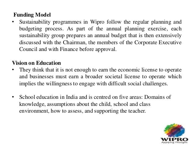 seminar report on corporate social responsibility a case study of wipro essay Free corporate social responsibility papers, essays (2008) chapter 3 and the case study at the end corporate and social responsibility - corporate and social responsibility in recent years.
