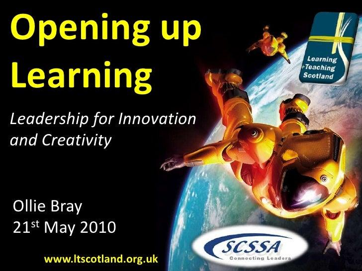 Education Leadership for Innovation and Creativity