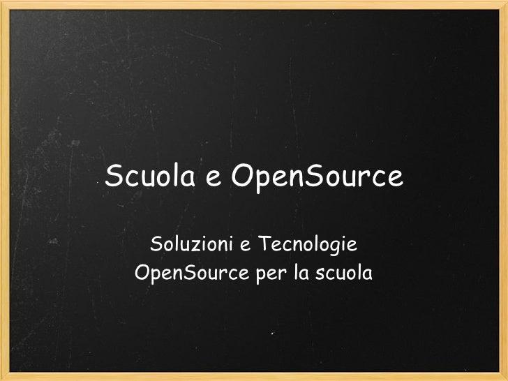 Scuola e open_source