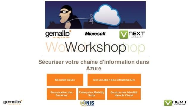 Sécuriser votre chaîne d'information dans Azure  Sécurité Azure  Sécurisation des Infrastructure  Sécurisation des Service...