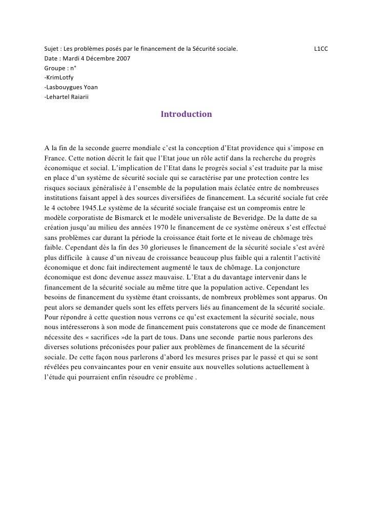 ★ Sécurité sociale en France 2007 ★