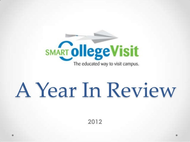 A Year In Review       2012