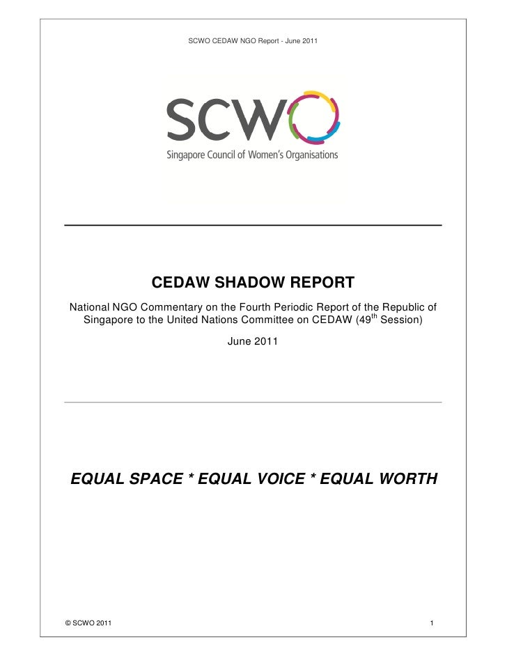 Singapore National NGO Report to CEDAW