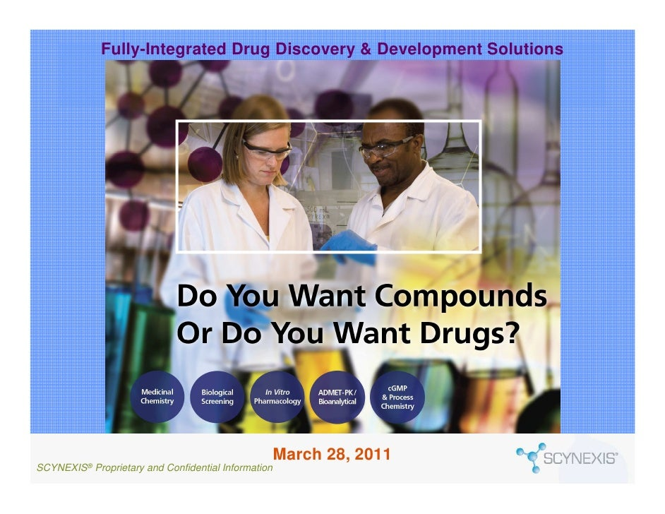 Scynexis Fully Integrated Drug Discovery & Development 2011 Overview