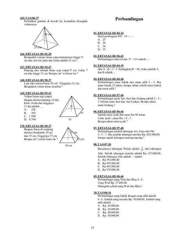 Kumpulan Soal Matematika Sd