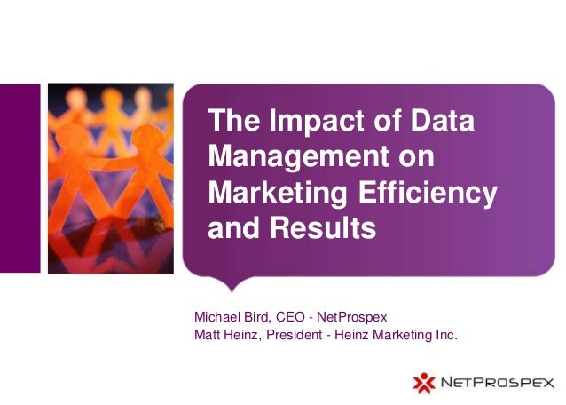 The impact of data management on marketing efficiency and results