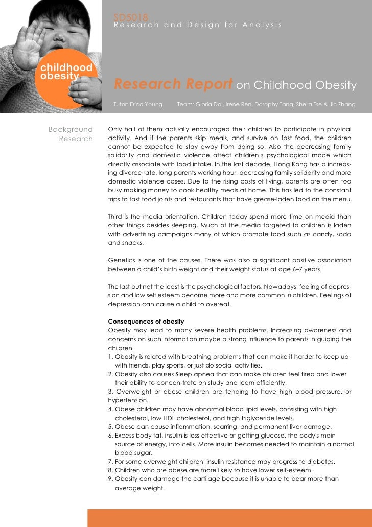 research proposal on childhood obesity