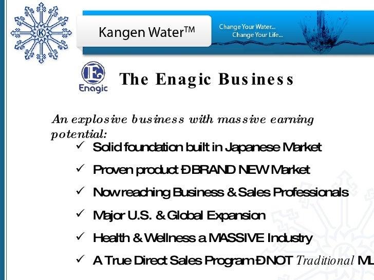 Enagic Business The Enagic Business