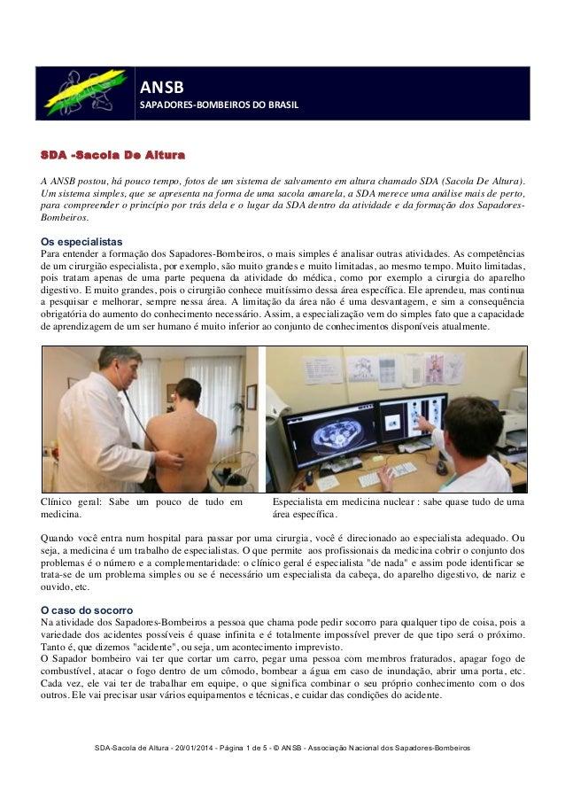SDA-Sacola de Altura - 20/01/2014 - Página 1 de 5 - © ANSB  - Associação Nacional dos Sapadores-Bombeiros  ANSB  SAPADORES...