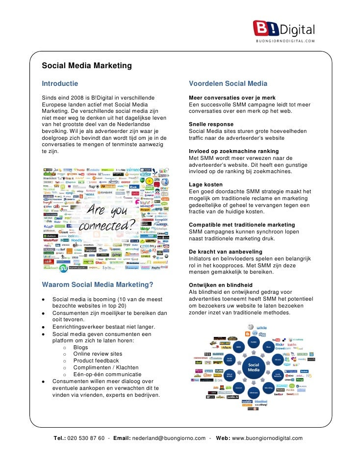 Social Media Marketing  Introductie                                         Voordelen Social Media Sinds eind 2008 is B!Di...