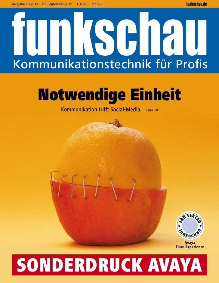 funkschauAusgabe 18/2011   23. September 2011   € 4,90   sfr 8,90                          funkschau.deKommunikationstechn...