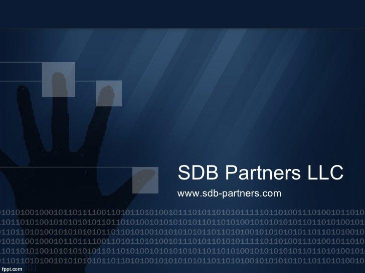 SDB Partners LLC www.sdb-partners.com