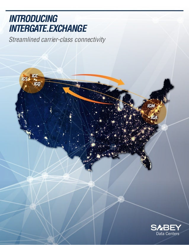 INTRODUCING INTERGATE.EXCHANGE Streamlined carrier-class connectivity