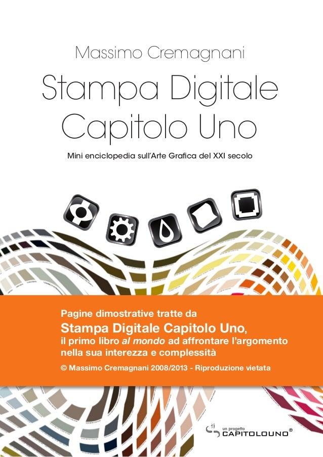 Massimo CremagnaniStampa Digitale Capitolo Uno  Mini enciclopedia sull'Arte Grafica del XXI secolo Pagine dimostrative tra...