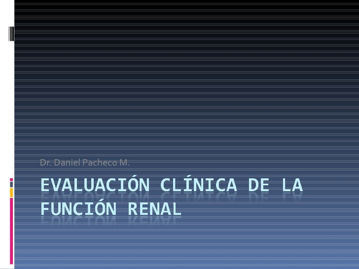 Dr. Daniel Pacheco M.