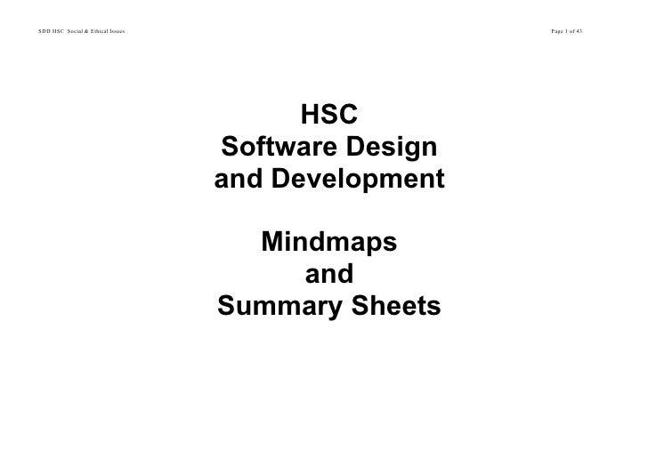 Sdd HSC Summary
