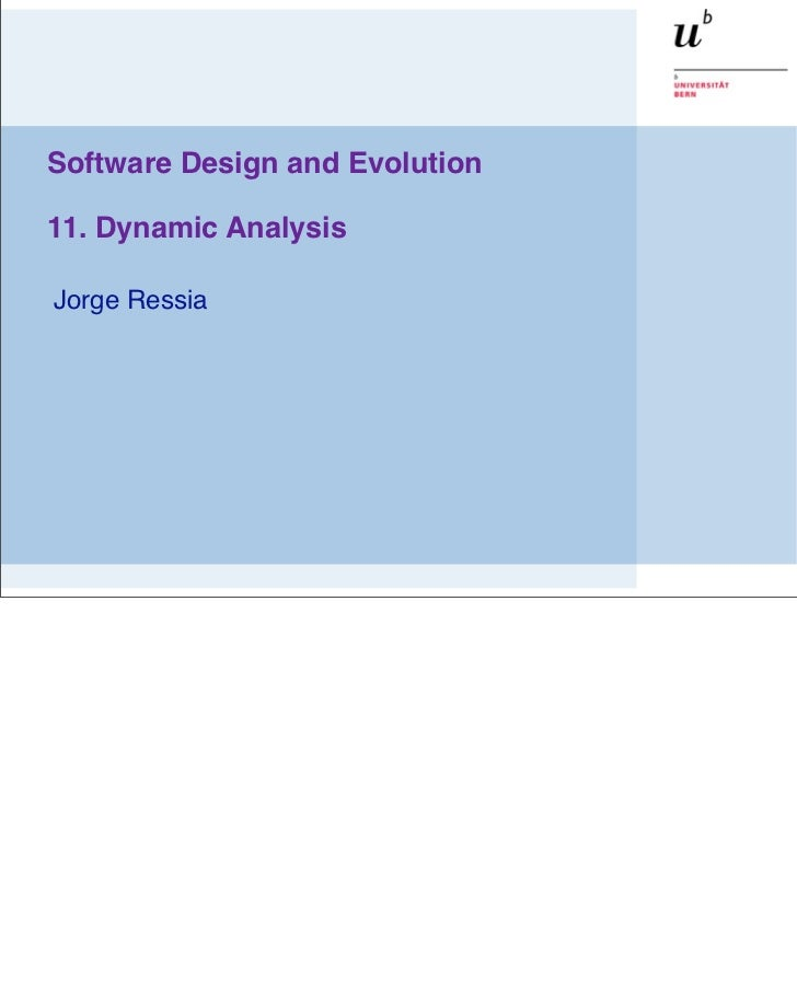 SDE - Dynamic Analysis
