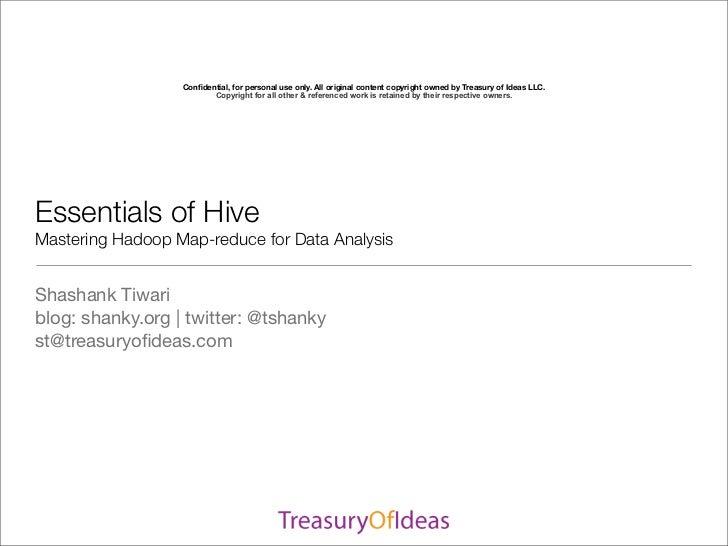 SDEC2011 Essentials of Hive