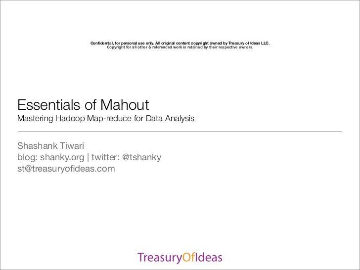 SDEC2011 Essentials of Mahout