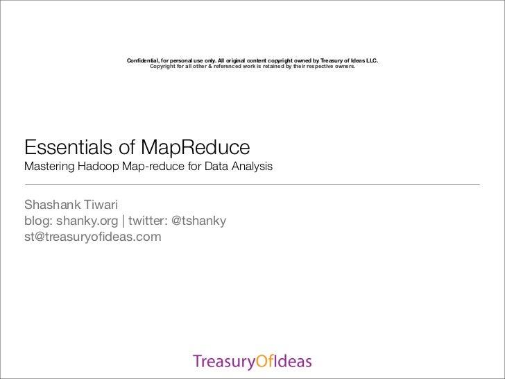 SDEC2011 Essentials of map reduce