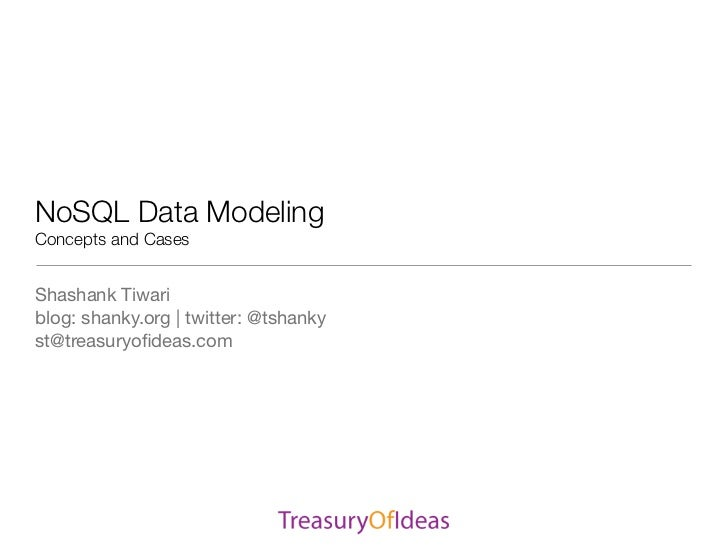 SDEC2011 NoSQL Data modelling