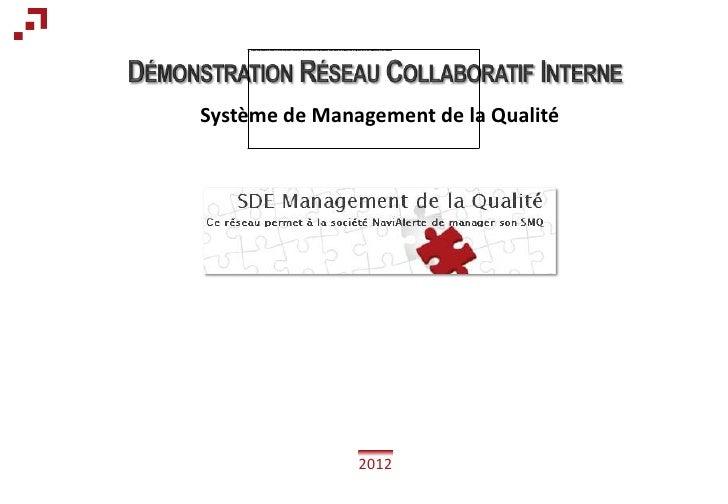 Système de Management de la Qualité               2012