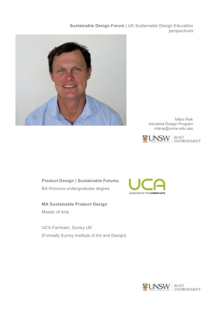 Sustainable Design Forum | UK Sustainable Design Education                                                                ...