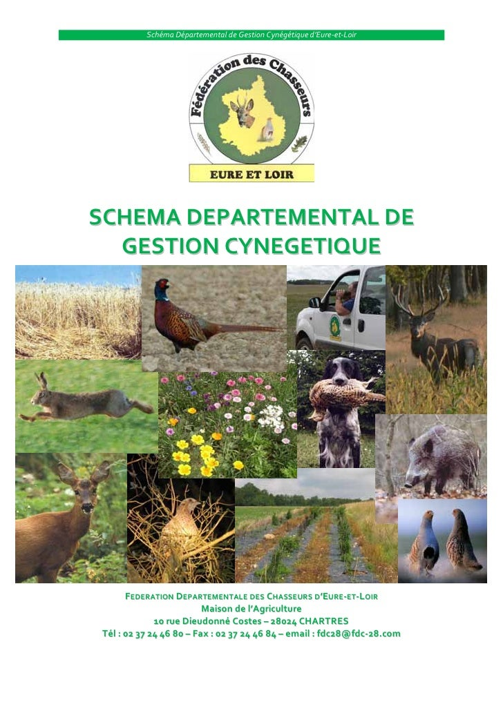 Schéma Départemental de Gestion Cynégétique d'Eure-et-LoirSCHEMA DEPARTEMENTAL DE  GESTION CYNEGETIQUE      FEDERATION DEP...