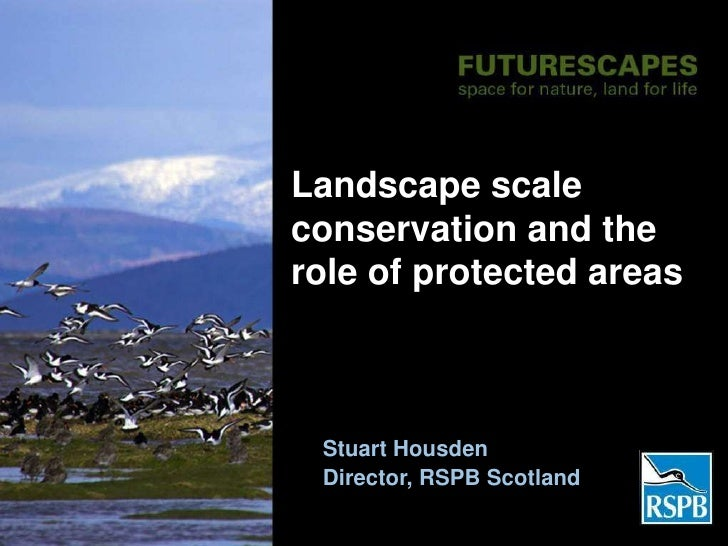 Landscape scaleconservation and therole of protected areas Stuart Housden Director, RSPB Scotland