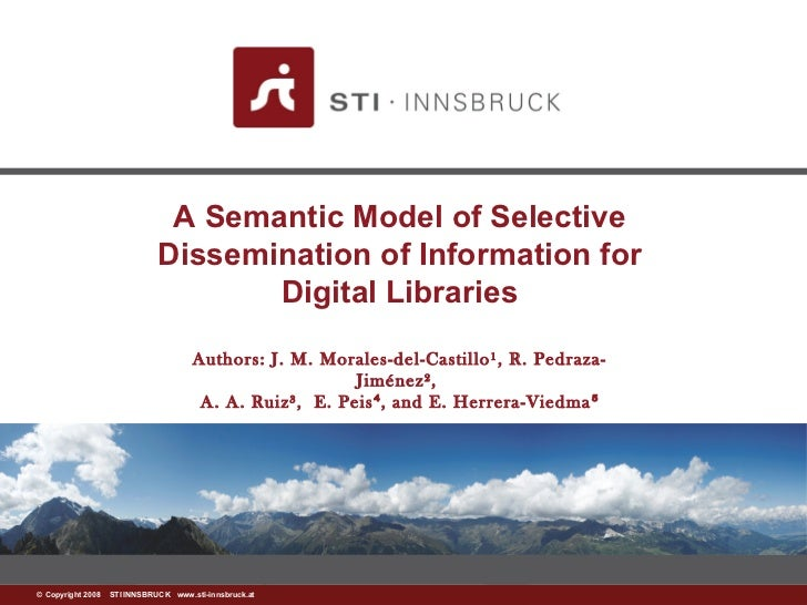 A Semantic Model of Selective                            Dissemination of Information for                                 ...