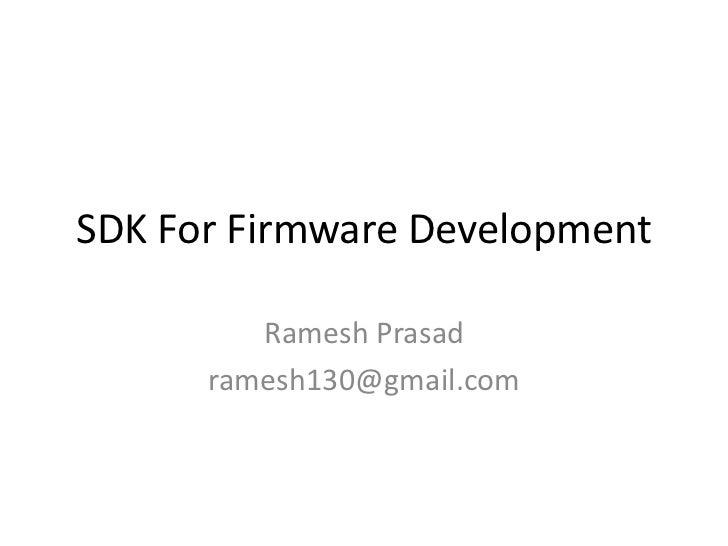 Sdk For Firmware Development